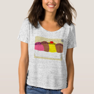 Ice cream women's slouchy tshirt