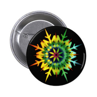 Ice Crystal Color Pinback Buttons