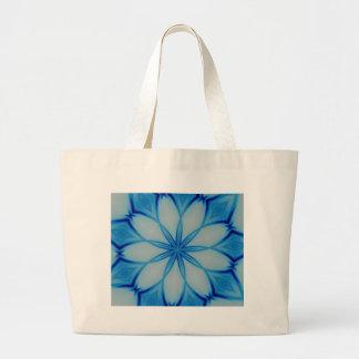 Ice crystal design tote bag