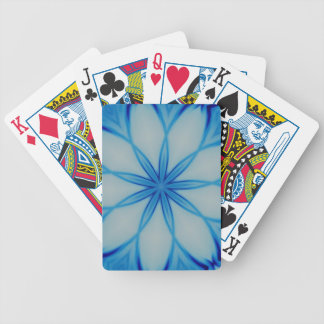 Ice crystal design bicycle poker cards
