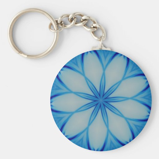 Ice crystal design keychains