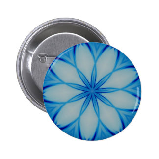 Ice crystal design pinback buttons