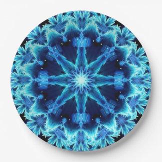 Ice Crystal Light Mandala 9 Inch Paper Plate
