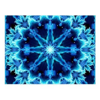 Ice Crystal Light Mandala Postcard