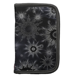 Ice Crystal Pattern on Black Planners