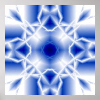 Ice Crystal Print