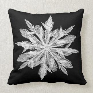 Ice crystal snowflake pillow