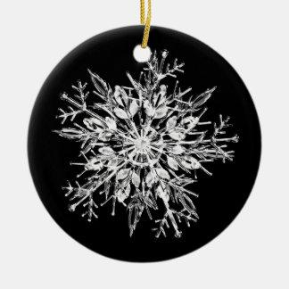 Ice crystal snowflake christmas ornament