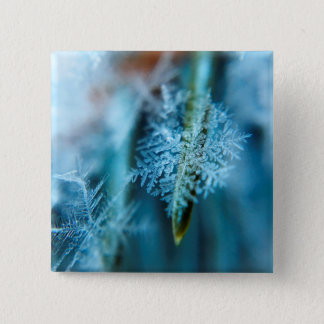 Ice Crystal,  Wintertime, Snow, Nature 15 Cm Square Badge