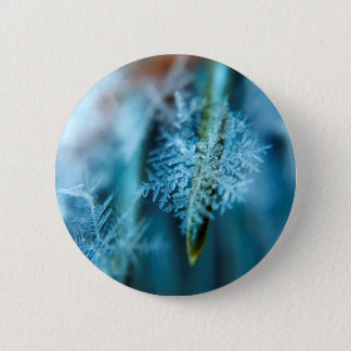 Ice Crystal,  Wintertime, Snow, Nature 6 Cm Round Badge