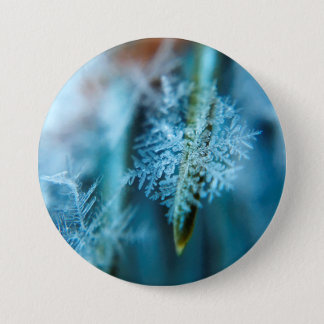 Ice Crystal,  Wintertime, Snow, Nature 7.5 Cm Round Badge