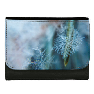 Ice Crystal,  Wintertime, Snow, Nature Leather Wallet