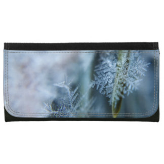 Ice Crystal,  Wintertime, Snow, Nature Leather Wallets