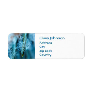 Ice Crystal,  Wintertime, Snow, Nature Return Address Label