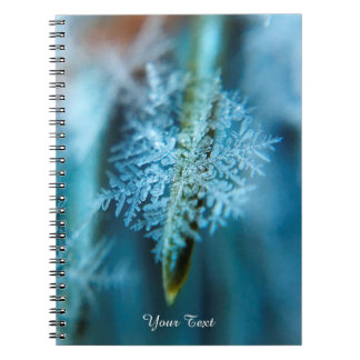 Ice Crystal,  Wintertime, Snow, Nature Spiral Note Book