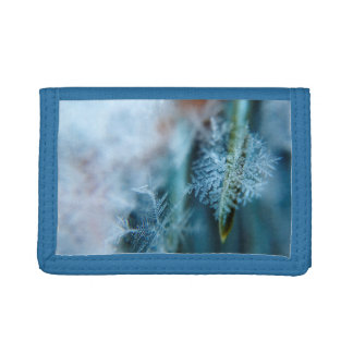 Ice Crystal,  Wintertime, Snow, Nature Tri-fold Wallet
