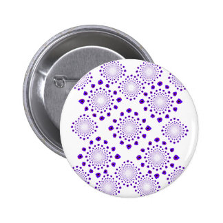 Ice Crystals Pinback Buttons
