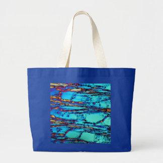 Ice crystals canvas bag