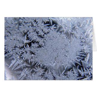 Ice crystals card