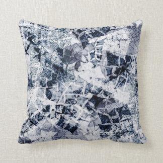 Ice Crystals - Dark Blue Cushion