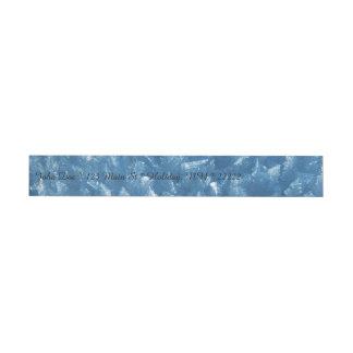 Ice Crystals in Blue Wraparound Address Label