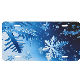 Ice Crystals License Plate