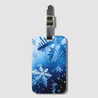 Ice Crystals Luggage Tag
