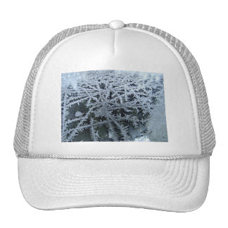Ice Crystals on a Glass Window Pane Trucker Hat