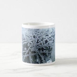 Ice Crystals on a Glass Window Pane Coffee Mug