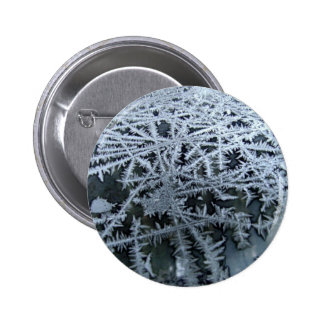 Ice Crystals on a Glass Window Pane Pinback Button