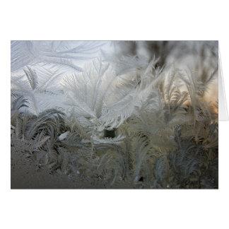Ice Crystals on Window Card