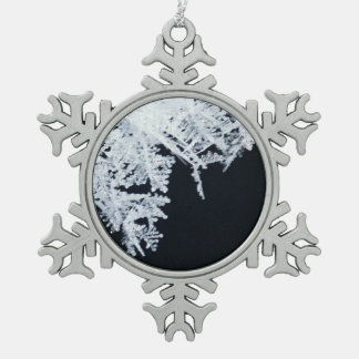 Ice crystals pewter snowflake decoration