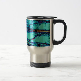 Ice crystals travel mug
