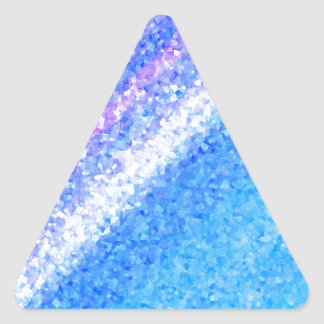 Ice Crystals Triangle Sticker