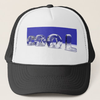 ICE CUBE TEXT TRUCKER HAT
