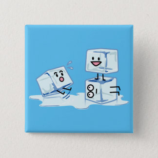 ice cubes icy cube water slipping stack melt cold 15 cm square badge