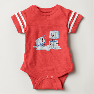 ice cubes icy cube water slipping stack melt cold baby bodysuit