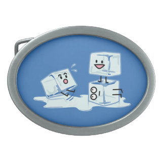 ice cubes icy cube water slipping stack melt cold belt buckle