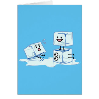 ice cubes icy cube water slipping stack melt cold card