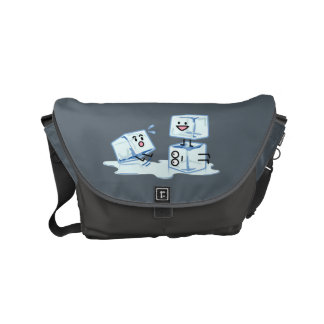ice cubes icy cube water slipping stack melt cold courier bag
