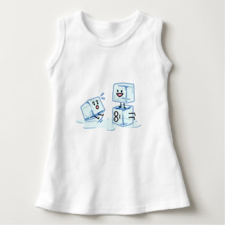 ice cubes icy cube water slipping stack melt cold dress