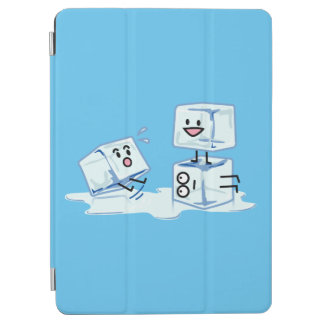 ice cubes icy cube water slipping stack melt cold iPad air cover