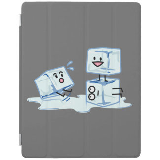 ice cubes icy cube water slipping stack melt cold iPad cover