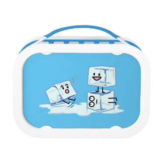 ice cubes icy cube water slipping stack melt cold lunch box