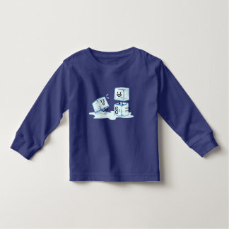 ice cubes icy cube water slipping stack melt cold toddler T-Shirt