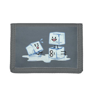 ice cubes icy cube water slipping stack melt cold trifold wallets