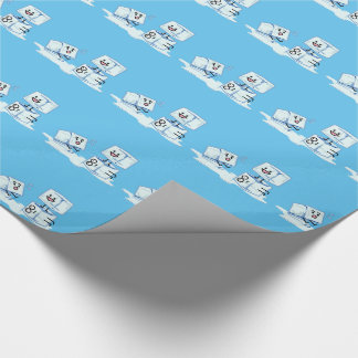 ice cubes icy cube water slipping stack melt cold wrapping paper