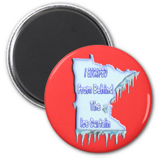 Ice Curtain Refugee Magnet