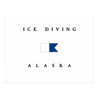 Ice Diving Alaska Alpha Dive Flag Post Cards