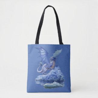 Ice Dragon All-Over-Print Tote Bag